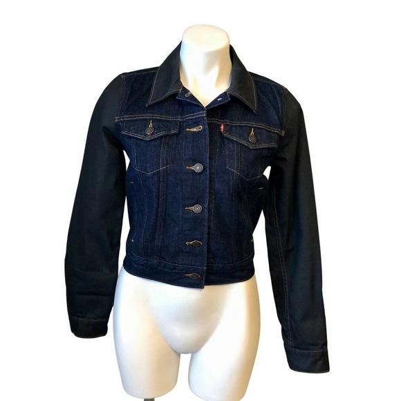 Levi's Denim Jean Jacket S Blue & Black